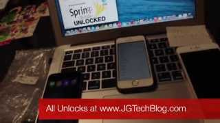 HOW TO UNLOCK SPRINT iPHONE 5s/5c/6/6+