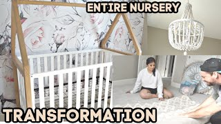 Baby Girl NURSERY TRANSFORMATION & ENTIRE PROCESS *Start to Finish*