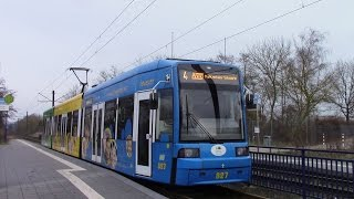 preview picture of video 'Schwerin Tramways Schweriner Straßenbahnnetz'