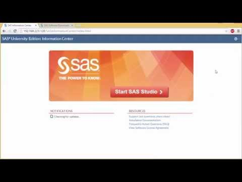 How to Install and Set Up SAS University Edition - YouTube