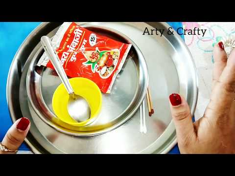 DIY Aarti Thali Decorations in 5 minutes / Easy Pooja Thali Decoration /Rakhi Thali Decoration