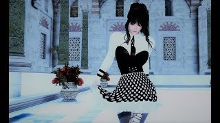 skyrim dance new hdt hair priview 4