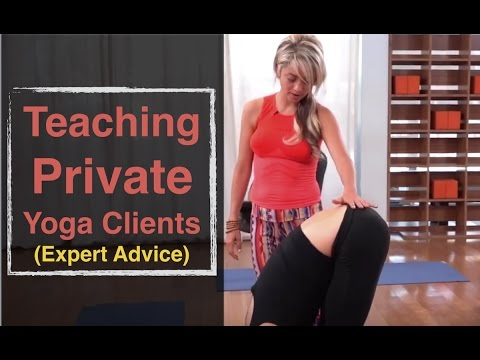 Teaching Private Yoga Clients