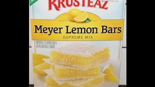 Making Krusteaz Meyer Lemon Bars & Review