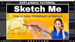 How to make white board animation in explaindio tutorial