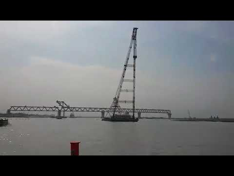 The fourth span of the Padma Bridge was installed on May 13, Sunday. With the placing of the 150-metre long span, 600 metres of the 6.15-kilometre bridge is now visible.