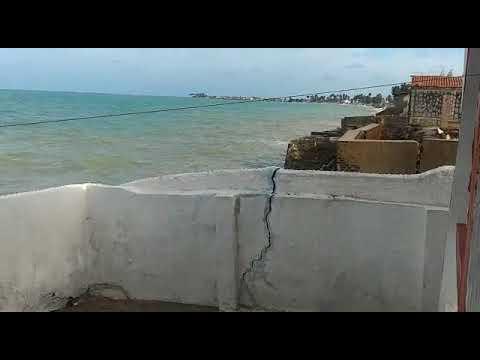 Mar subindo Forte na Baía da Traição