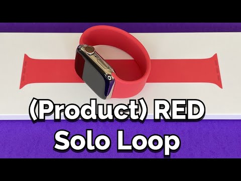 (PRODUCT) RED Solo Loop Apple Watch Band (Fall 2020) + Unboxing & Comparisons!