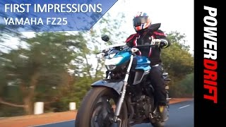 Yamaha FZ 25 : First Ride : PowerDrift