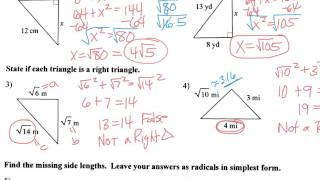 Notes On Special Right Triangles Video