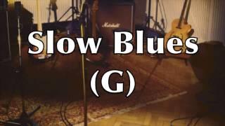 Slow Blues Backing Track (G)