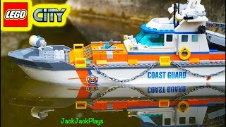 Pretend Play with Lego City Boats in Real Water: Cops & Robbers Skit