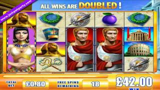 £111 SUPER BIG WIN (138 X STAKE) ROME&EGYPT™  BIG WIN ONLINE SLOTS AT JACKPOT PARTY CASINO
