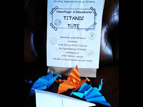 TITANIC Papierflieger