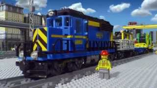preview picture of video 'Lego CITY Treno Merci e Passeggeri novita' 2014 by testistore.it'