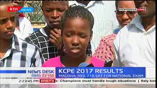 Well performed KCPE candidates, Mombasa react to their performances