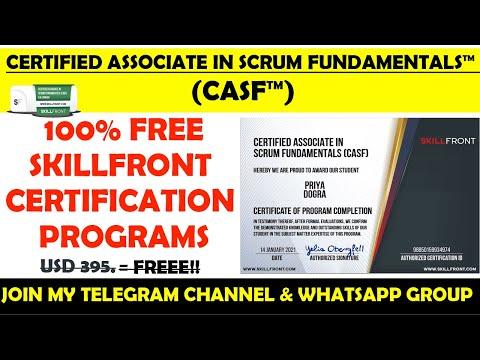 Certified Associate in Scrum Fundamentals Free Certification ...