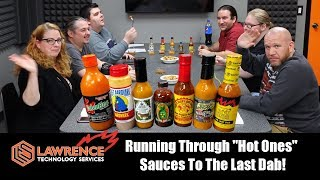 """Running Through """"Hot Ones""""  Sauces To The Last Dab! (Warning, The Scovilles Caused Some Swearing!)"""