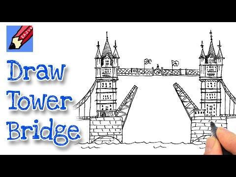 how to draw tower bridge
