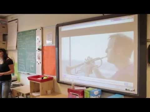 Impressie proefles Digitale Leerlijn Muziek - Muziekles 'De Promenade'