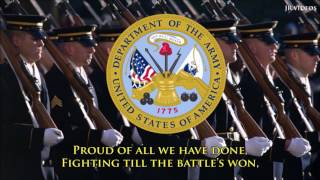 Service Anthem of the United States Army (lyrics)