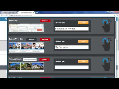 How To Edit The Widgets on Your Agent123 Website