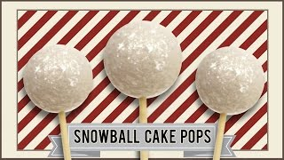 SNOWBALL CAKE POPS I Stylicious And Delicious Snowball Cake Pops I Christmas Set