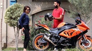 PICKING UP UBER RIDERS ON A BMW HEAVY BIKE PRANK | Haris Awan
