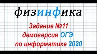 Информатика ОГЭ 2020. Решение задания 11 ОГЭ по информатике 2020