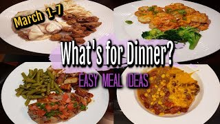 WHAT'S FOR DINNER? | MARCH 1-7 | EASY MEAL IDEAS | MANDY IN THE MAKING