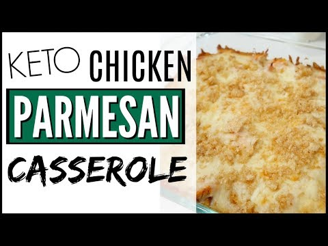 KETO CHICKEN PARMESAN CASSEROLE ● EASY KETO MEALS + CASSEROLE with CAULIFLOWER RICE
