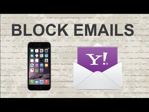 How to block emails on Yahoo | Mobile App