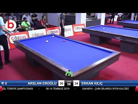 ARSLAN EROĞLU & ERKAN KILIÇ Bilardo Maçı - SAKARYA ÖZPAŞ CUP 2019-2.TUR