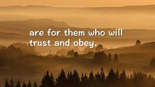 TRUST AND OBEY With Lyrics Don Moen - YouTube