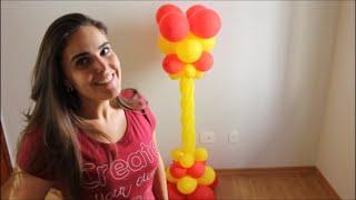 Neste vídeo você aprende passo a passo como fazer uma coluna de balões bem diferente e bonita. São usados balões comuns e 260, canudo. Podem ser colocadas na entrada das festinhas e é uma ótima opção para temas que tenham castelo. www.facebook.com/amofestas www.amofestas.com