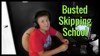 Kid Gets Busted Skipping School