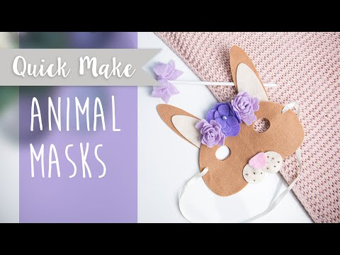 How To Make Animal Masks - Sizzix