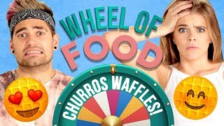 CHURRO WAFFLES CHALLENGE?! Wheel of Food w/ Rajiv Dhall & Griffin Arnlund