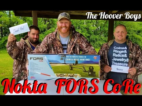 Nokta FORS CoRe Metal Detector Review, Unboxing, Assembly, Air Test, Garden Test, The Hoover Boys