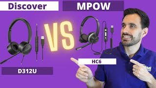 MPOW HC6 USB Headset vs Discover D312U USB Headset - LIVE MIC & SPEAKER TEST!