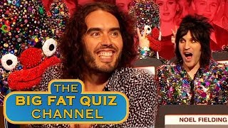 Russell Brand and Noel Fielding Wreck the Show | Big Fat Quiz Anniversary 2015