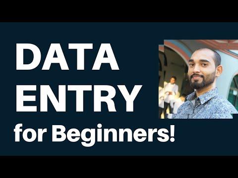 Data Entry Tutorial for Beginners