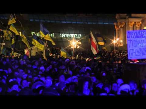 Новый год 2014 - Майдан Незалежности, Киев (HD)