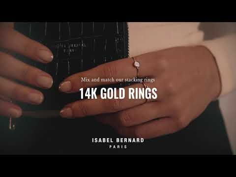 Isabel Bernard Asterope Solitary 14 karat gold stacking ring