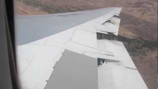 preview picture of video 'Iran Air B747-SP Landing at Tehran IKA 2012 - Window View'