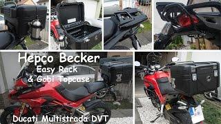 Hepco & Becker Gobi Topcase / Easy Rack an Ducati Multistrada DVT