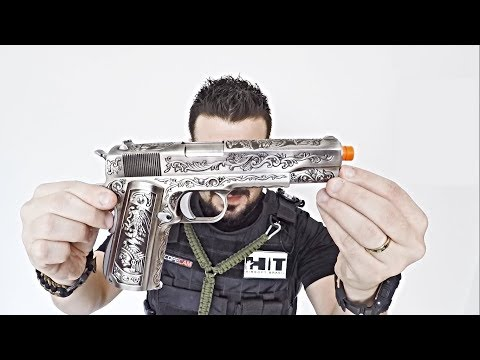 airsoft pistool (Replica) WE 1911 FLORAL ENGRAVED GBB