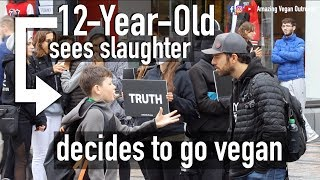 12-Year-Old Reacts To Slaughter Footage - Alex Bez and Jonah