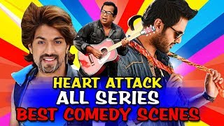Heart Attack All Series Comedy Scenes (Heart Attack 1, 2, 3) | South Indian Best Comedy Scenes