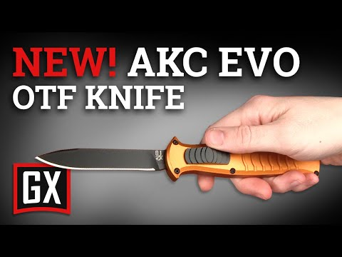 AKC X-treme EVO Black OTF Automatic Knife - Satin Plain